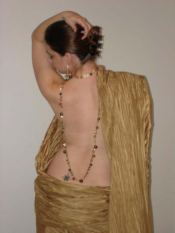 Golden Draped Back 9