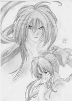 kenshin and kaoru by Bayra