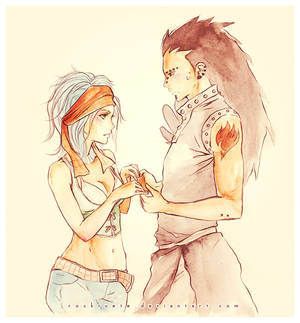 Fairy Tail: Gazille and Levi