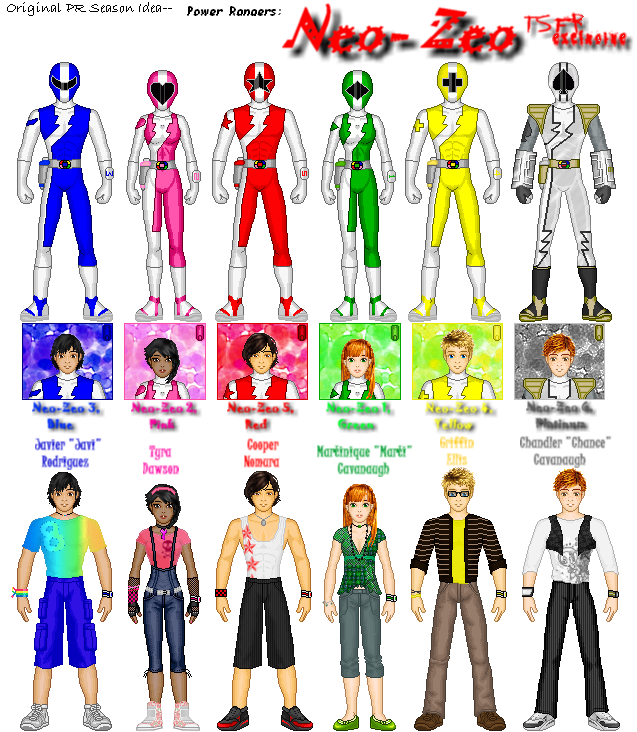 Power Rangers Names And Colors 28 Images What Do Power