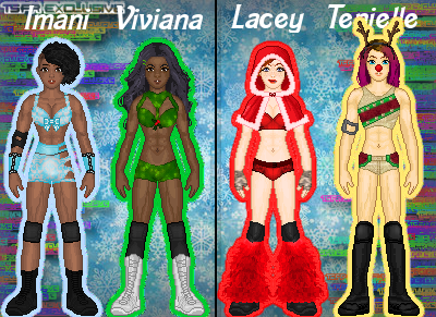 MyWWE: Imani/Viviana Vs. Lacey/Tenielle by TerenceTheTerrible