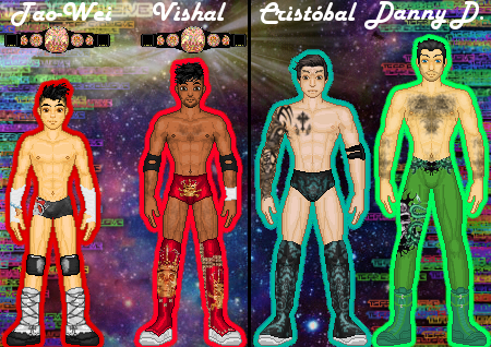 MyWWE: TaoWei/Vishal vs. Cristobal/Danny D. by TerenceTheTerrible