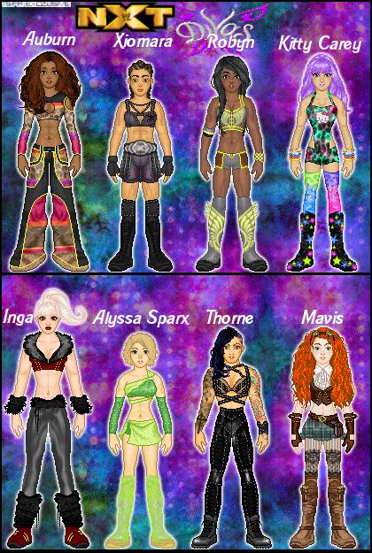 MyWWE: MyNXT Divas by TerenceTheTerrible