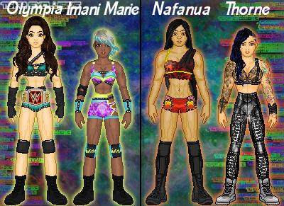 MyWWE: Olympia/Imani VS Nafanua/Thorne by TerenceTheTerrible