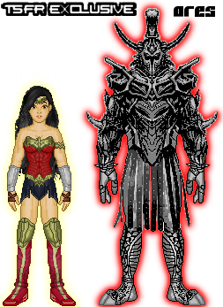 Renverse: Wonder Woman vs. Ares by TerenceTheTerrible