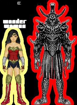 Renverse: Wonder Woman vs. Ares by TerenceTheTerrible
