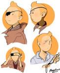Tintin eyepatch doodles