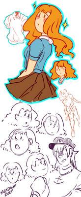 Feminine Tintin Sketchdump