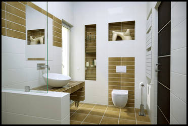 Small Contemporary Bathroom by DavidHier
