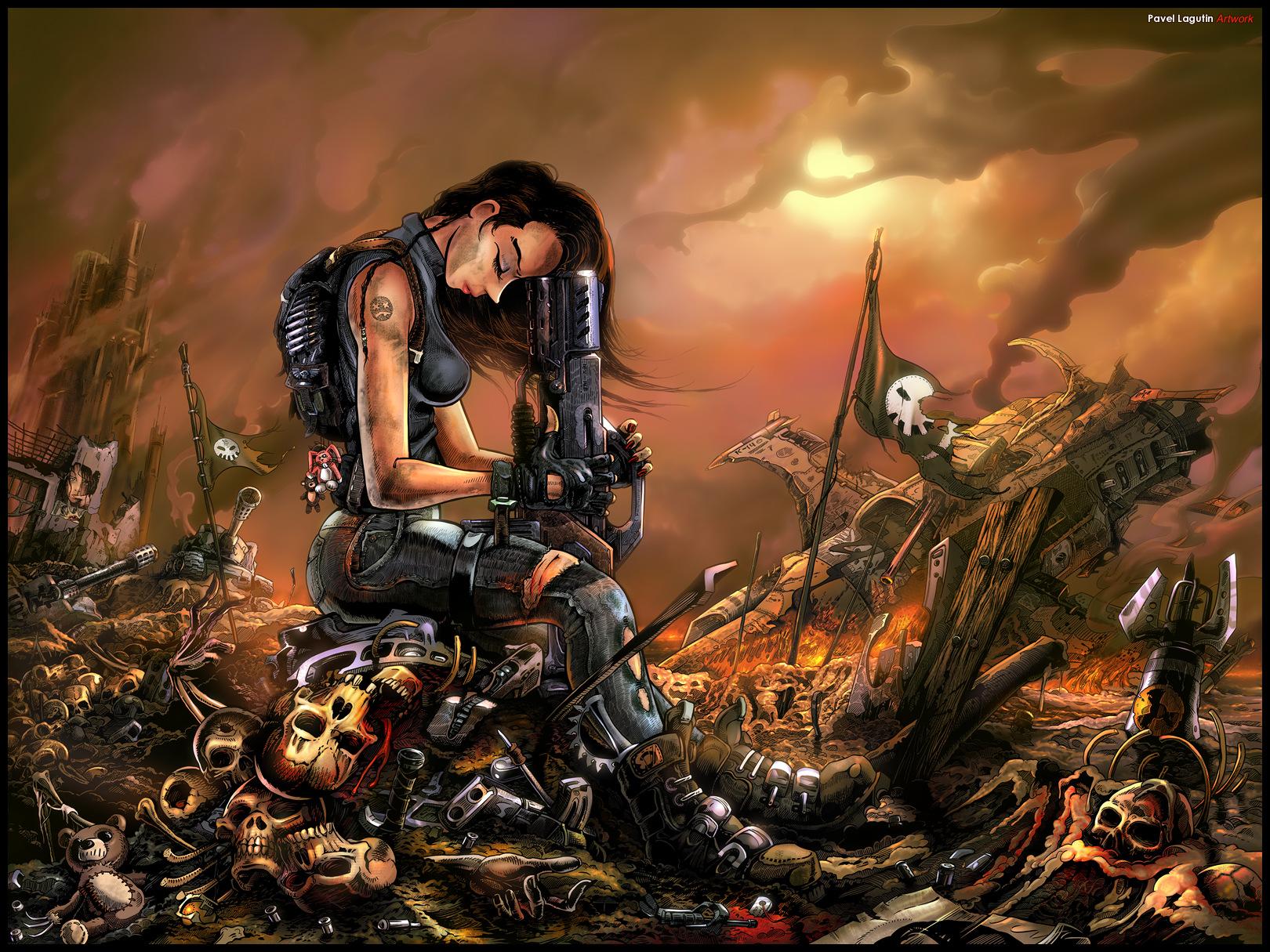 Battlefield After by Lagutin