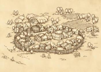 Dorf auf Pergament by MonavB
