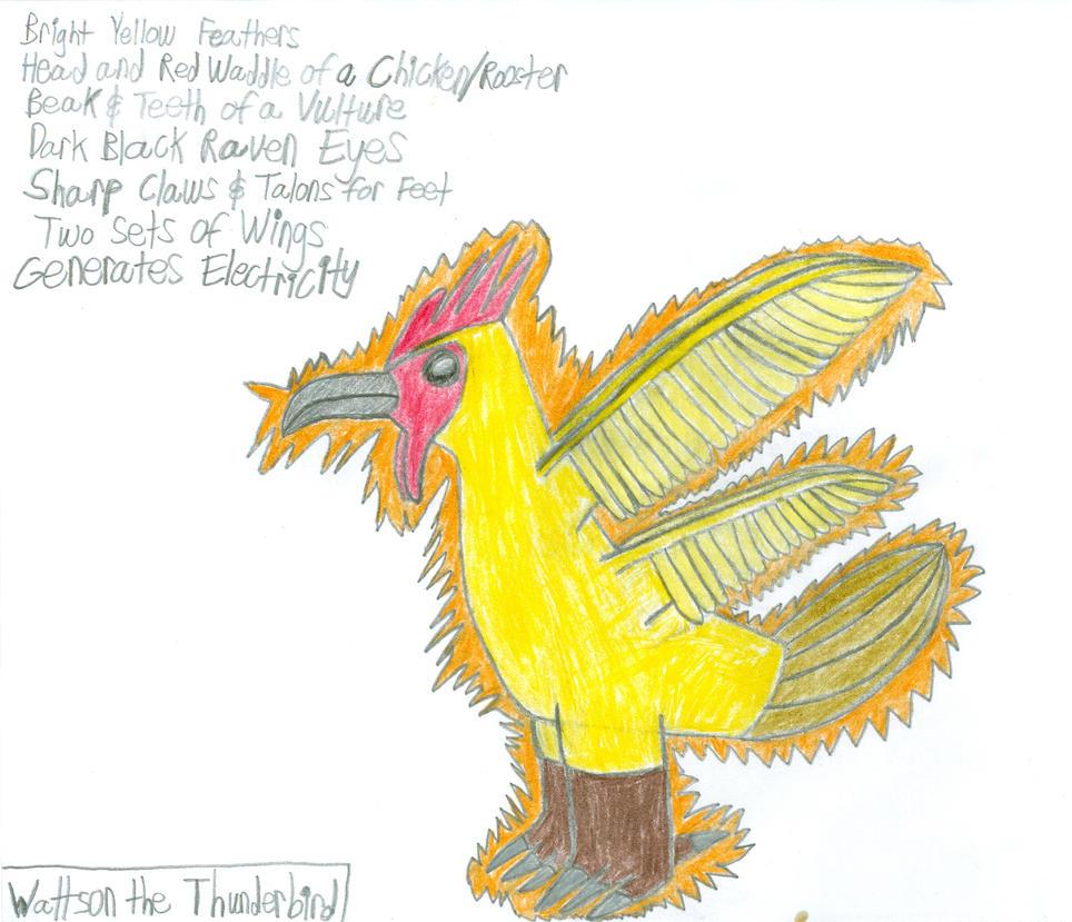 Wattson the Thunderbird, an MLP: FiM OC Creature by saber360