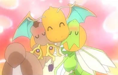 Dragonite used Warm Hug and it's Super Effective