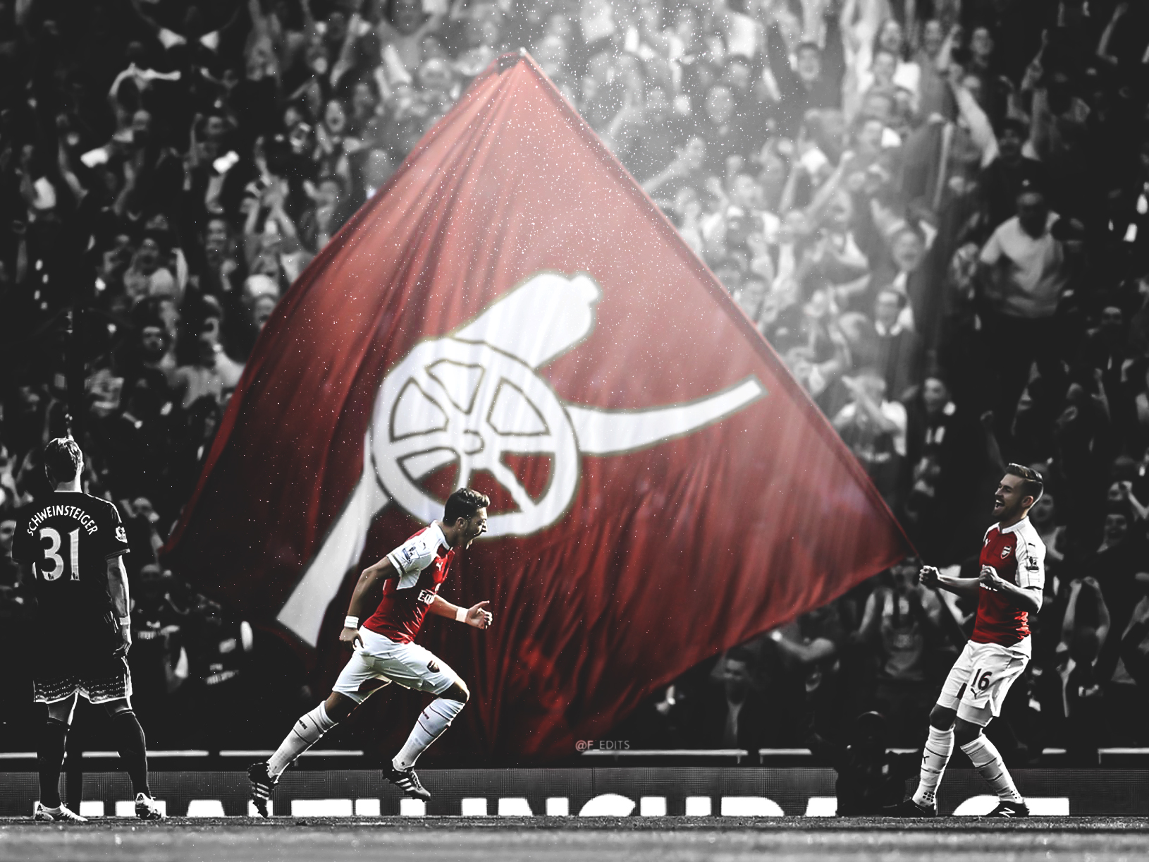 Arsenal Vs Manchester United Desktop Wallpaper By F Edits On Deviantart