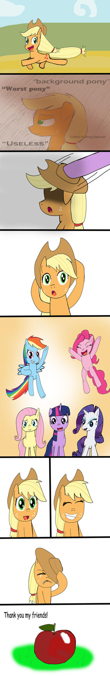 Applejack is worst pony? by Helsaabi
