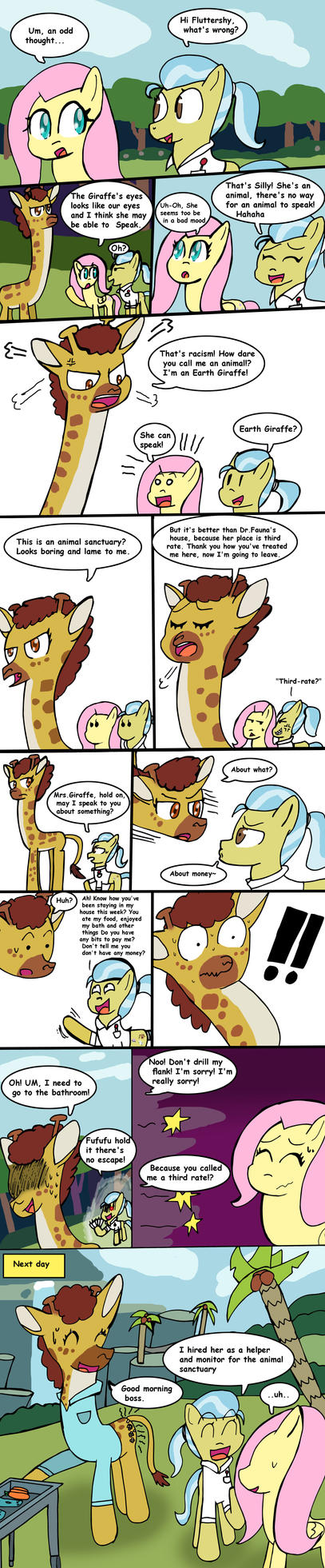 After Fluttershy leans In by Helsaabi