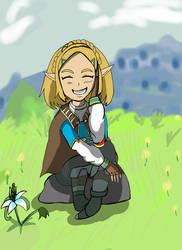 Zelda relaxing