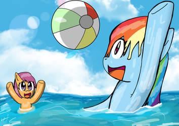 Request 12: Rainbow dash and Scootaloo enjoy fun