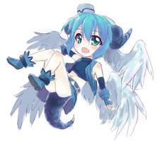 rough color - magic dragon girl by UnnameNeko
