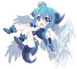 rough color - magic dragon girl