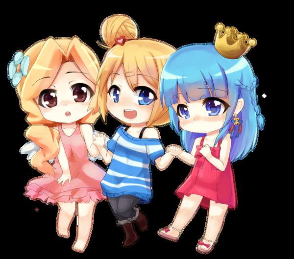 CM - happy 3 girl by UnnameNeko