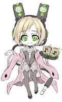 Loudspeaker Bunnybear by UnnameNeko