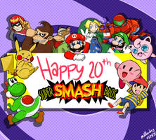 January 23 2019 - Smash Bros 20th Anniversary by mallowkey