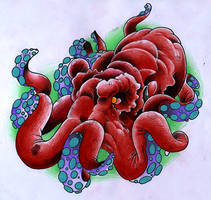 Octopus by JoshDixArt