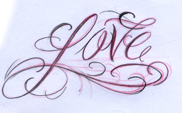 Daily script 1 love by joshdixart on deviantart for One love tattoo designs