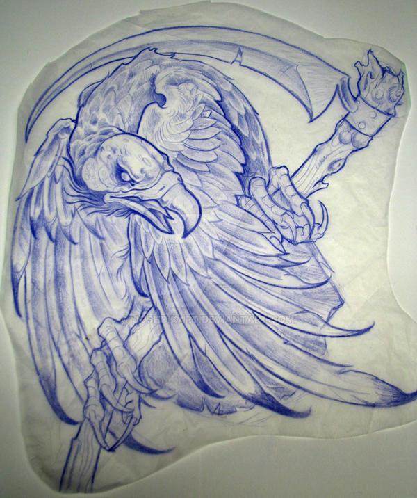 vulture with scythe by joshdixart on deviantart. Black Bedroom Furniture Sets. Home Design Ideas
