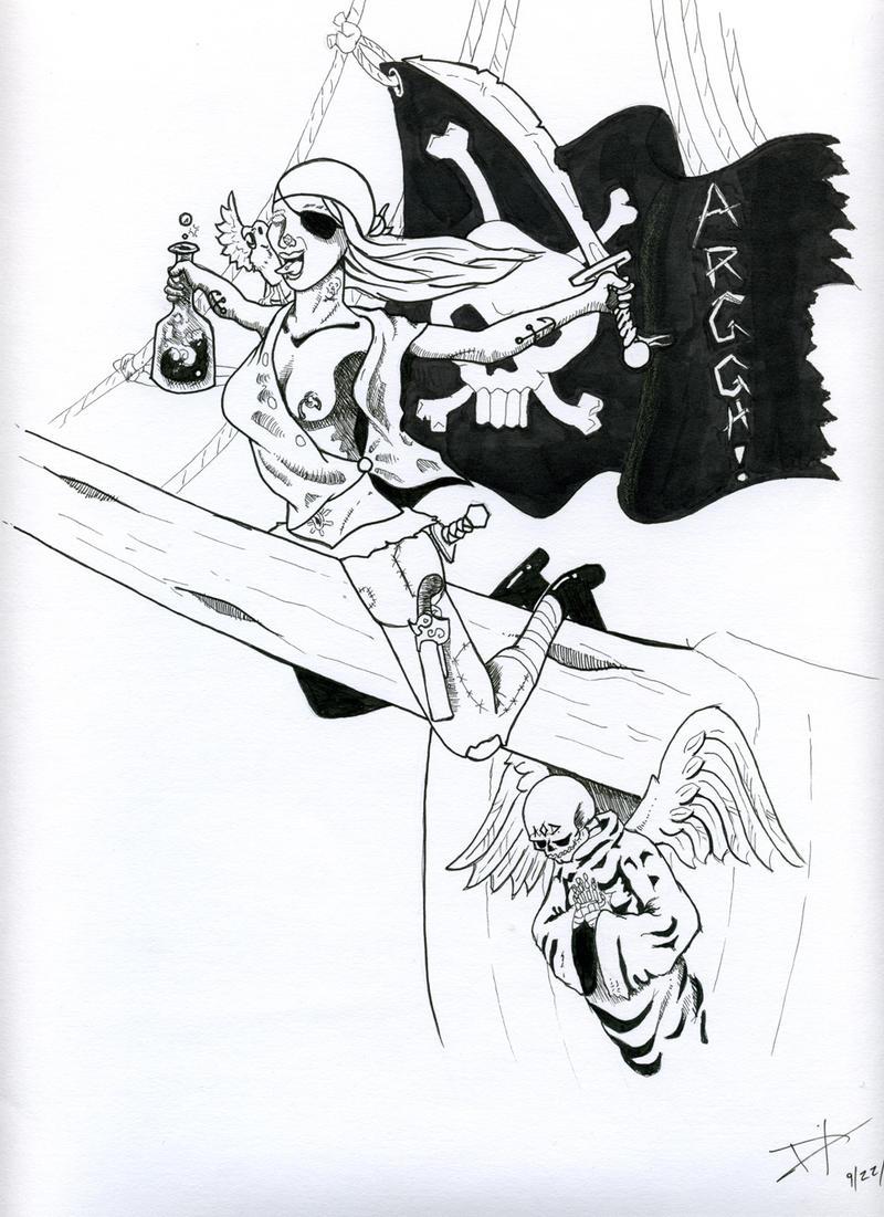 Female pirate drawing - photo#30