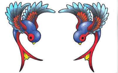 Swallows 1 by JoshDixArt