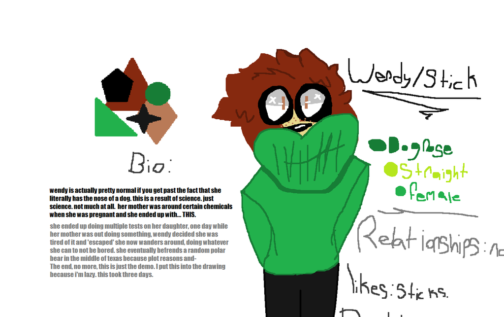 wendy oc ref sheet ft wall of text by grrring