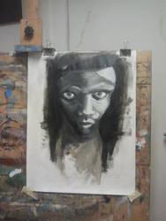 Homeless woman by Oezem