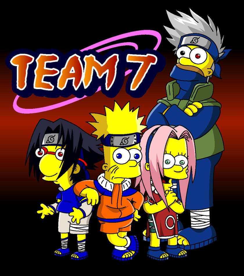 Naruto simpsons team 7 by lloydvdw on deviantart for Wohnzimmertisch team 7
