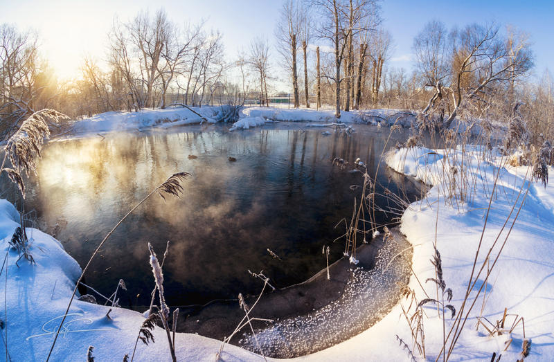 winter ravine by hitforsa