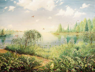 landscape with raspberry