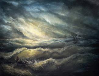 Ship crash in a storm by hitforsa