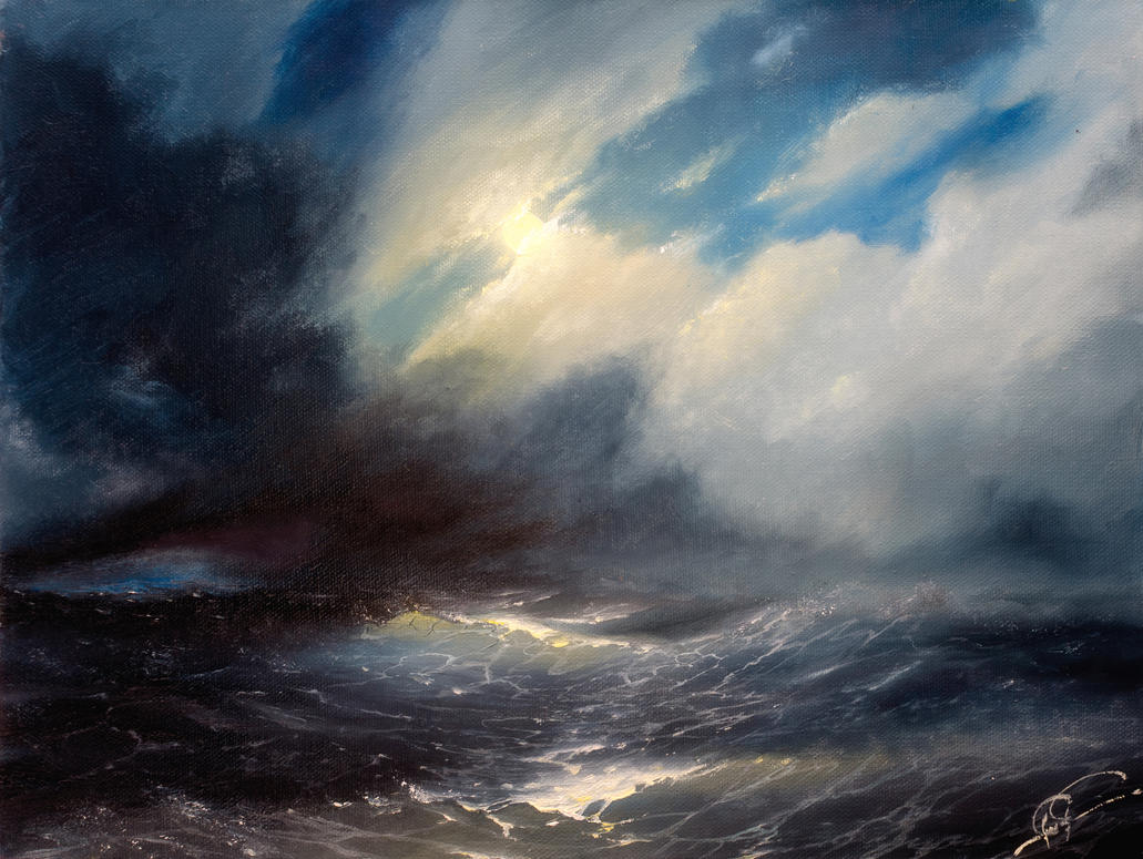 night sea (etude) by hitforsa