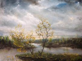 Autumn landscape (etude) by hitforsa