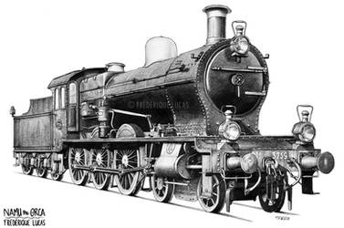 Dutch steam engine No 3759 - NS 3700 class by namu-the-orca