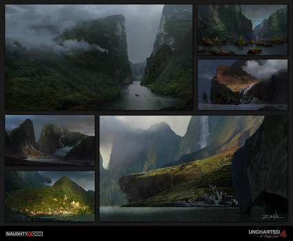 Uncharted 4 - Pirate Cove Sketches