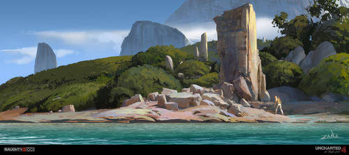 Uncharted 4 - Beach Ruins by EytanZana