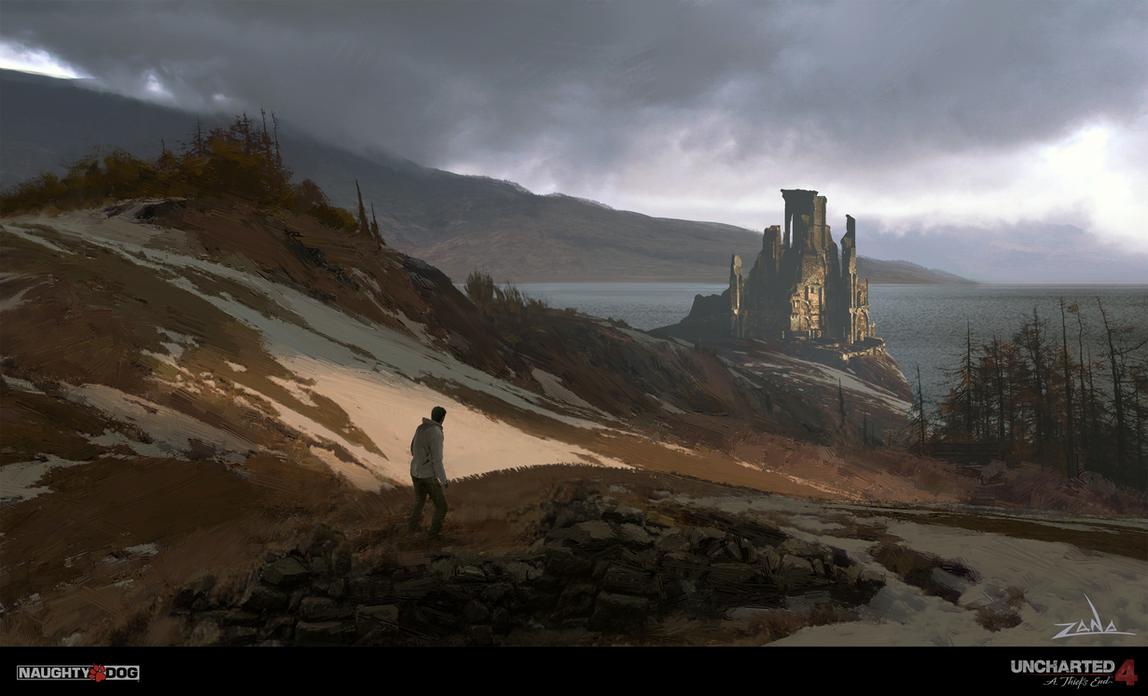 Uncharted 4 - Scotland Hillside by EytanZana