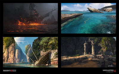 Uncharted 4 - Assorted Sketches