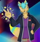 tghe coolest boy -Art trade-