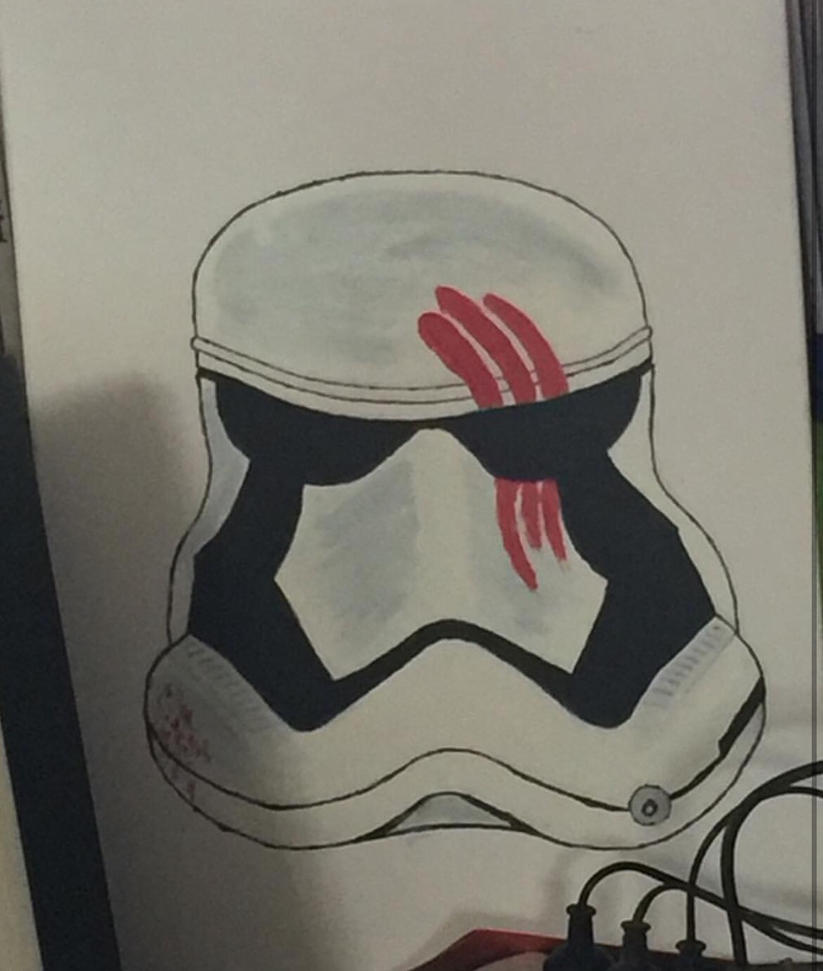 First order stormtrooper painting by phoebe-d