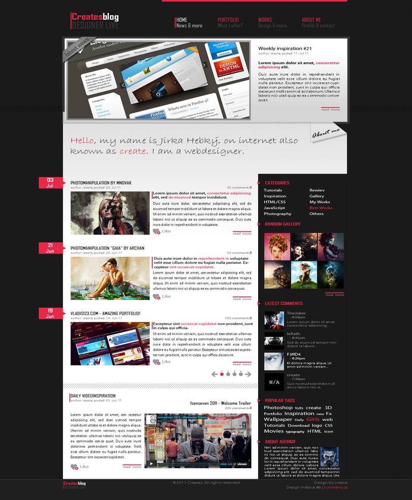 creates blog - webdesign by Wcreates