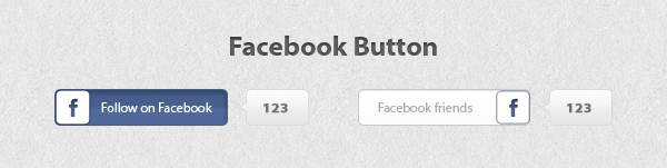 Facebook button by Wcreates