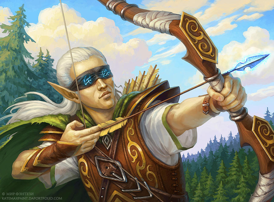 Blind archer by KateMaxpaint